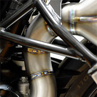 Unit Garage Double High Pipe Titanium