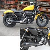 Zard Kit Completo 2>1 Sport Inox Omologato Cat. Trattamento Ceramico Nero Harley Davidson Sports
