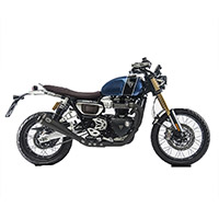 Zard Steel Racing Low Black Exhaust Scrambler 1200