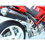 Zard Kit Collettori+2 Silenziatori Alti Ducati Monster S4rs T Stretta