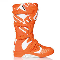 Bottes Acerbis X-team Orange Blanc