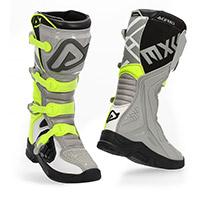 Acerbis X Team Boots Grey Yellow