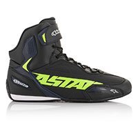 Alpinestars Faster 3 Shoes Black Yellow Fluo Blue