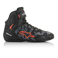 Alpinestars Faster 3 Shoes Grey Camo Red Fluo