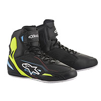 Alpinestars Faster 3 Shoes Yellow Light Blue