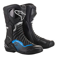 Alpinestars Smx 6 V2 Boots Black Metallic Blue