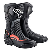 Alpinestars Smx 6 V2 Boots Black Fluo Red