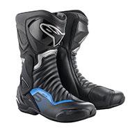 Alpinestars Smx 6 V2 Boots Black Metallic Blue