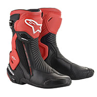 Alpinestars Smx Plus V2 Boots Black Fluo Red