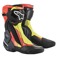 Alpinestars Smx Plus V2 Boots Grey Red Yellow