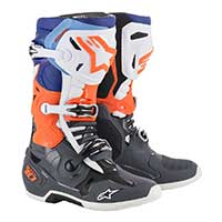 Alpinestars Tech 10 2019 Cool Gray Orange Fluo Blue White