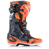 Alpinestars Tech 10 Boots Grey Orange Fluo