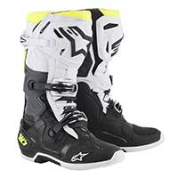 Alpinestars Tech 10 2019 Black White Yellow Fluo