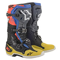 Alpinestars Tech 10 Boots Black Yellow Blue Red