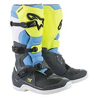 Alpinestars Tech 3 Boots 2019 Cool Gray Yellow Fluo Cyan