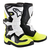 Alpinestars Tech 3s Kids White Yellow Kinder