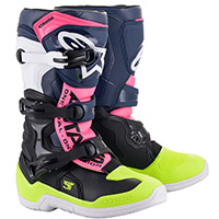 Alpinestars Tech 3s Youth Boots Blue Pink Kid