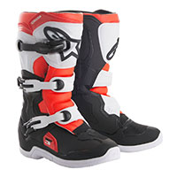Alpinestars Tech 3s Youth Black Red Fluo Kinder