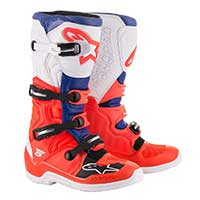 Alpinestars Tech 5 Boot 2019 Red Fluo Blue White