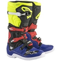 Alpinestars Tech 5 Black Blue Yellow Red
