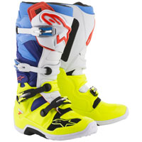 Alpinestars Tech 7 Fluo Yellow White Blue