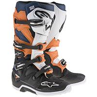 Alpinestars Tech 7 Boot Bianco Arancio Blu