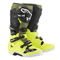 Alpinestars Tech 7 2019 Boot Yellow Fluo Military Green Black