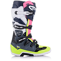 Alpinestars Tech 7 Boots Grey Blue Fluo Pink