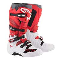 Alpinestars Tech 7 2019 Boot blanco rojo burdeos