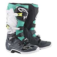 Alpinestars Tech 7 2019 Boot Dark Gray Teal White
