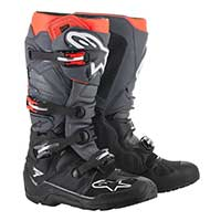 Alpinestars Tech 7 Enduro Boot 2019 Black Gray Red Fluo