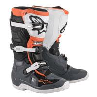 Alpinestars Youth Tech 7s Boots 2020 Black Orange Kid