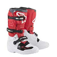 Alpinestars Youth Tech 7s Boots 2019 White Red Gray Kinder