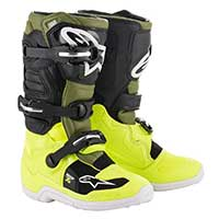 Alpinestars Youth Tech 7s Boots 2019 Yellow Fluo Military Green Black Kinder