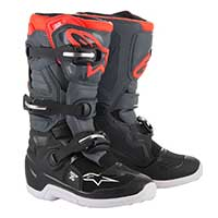 Alpinestars Youth Tech 7s Boots 2019 Black Dark Gray Red Fluo Kinder