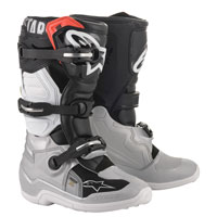 Alpinestars Youth Tech 7s Boots 2020 Black Silver Kinder