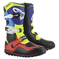 Alpinestars Tech T Boots Red Blue Fluo Yellow