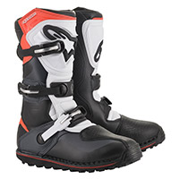 Alpinestars Tech T Boots Grey Fluo Red