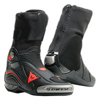 Dainese Axial D1 Air Boots Black Fluo Red