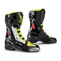 Falco Eso Race Boots White Yellow Fluo Red