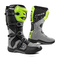 Falco Level Boots Grey Yellow Fluo