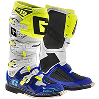 Gaerne Sg-12 White Blue Yellow Fluo