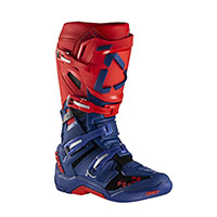 Botas Leatt 5.5 Flexlock royal azul rojo