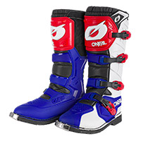 O Neal Rider Pro Boots Blue Red White