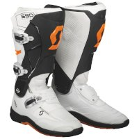Scott 550 Mx Boot White Orange