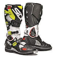 Sidi Crossfire 2 Boots White Black Yellow Fluo