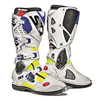 Sidi Crossfire 3 Fluo Yellow White Blue Boots