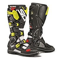 Sidi Crossfire 3 White Black Fluo Yellow Boots