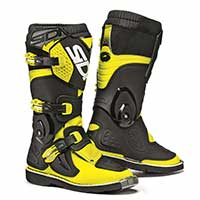 Sidi Flame Kid Boots Black Fluo Yellow Kid