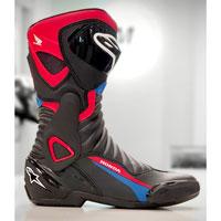Alpinestars Smx 6 V2 Honda Boots Black Blue Red